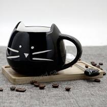 Tazza Ceramica Gatto Nero -...