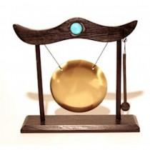 Gong Piccolo con struttura in legno e batacchiò
