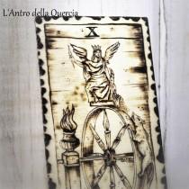 La Ruota della Fortuna, arcani maggiori con pirografia, una carta a scelta