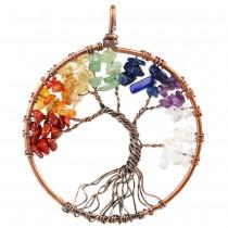 Collana Albero della Vita con pietre per i Chakra