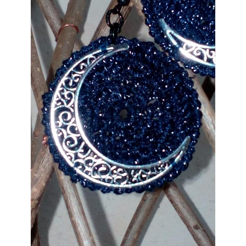 orecchini con luna
