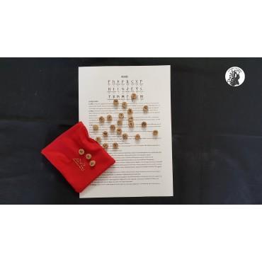 Rune in legno di Faggio