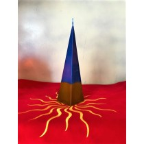 Candela Piramide Blu e Marrone