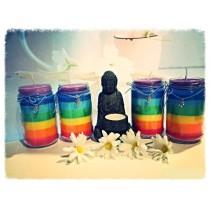 Candele magiche in cera d'api biologiche per riequilibrare i chakras