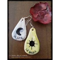 Orecchini Sole e Luna Tarocchi