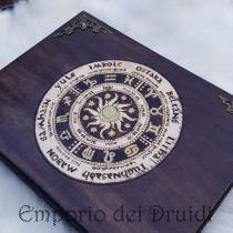 Libro delle ombre / Grimorio / diario - Ruota dell'anno - Wheel of the year - fatto a mano